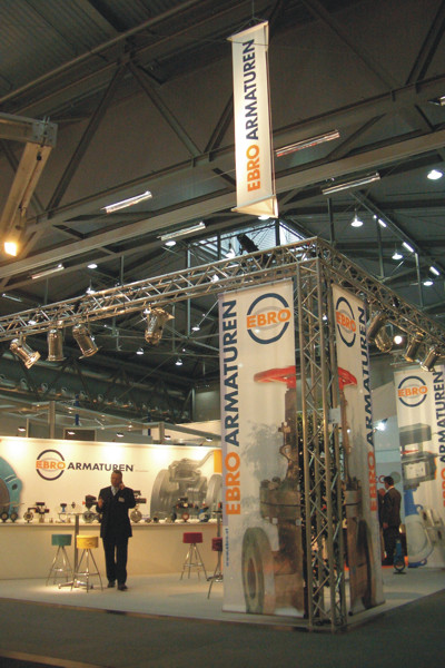 Messestand Ebro Armaturen